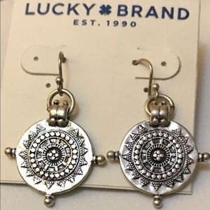 Lucky silver coin earrings